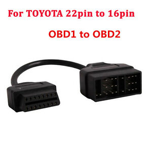 for toyota lexus 22pin to 16pin cable obd1 to obd2 connect. Black Bedroom Furniture Sets. Home Design Ideas