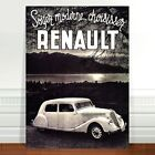 "Vintage Car Advertising Poster Art ~ CANVAS PRINT 8x12"" Renault"
