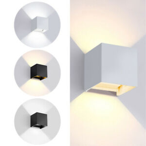 LED-Wall-Light-12W-Modern-COB-Up-Down-Cube-Indoor-Outdoor-Sconce-Lighting-Lamp