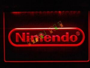 Nintendo-LED-Neon-Bar-Sign-Home-Light-Drink-Pub-Switch-DS-Wii-new-SNES-mario