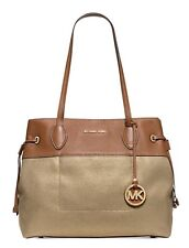 MICHAEL Michael Kors Marina North South Large Drawstring Tote Gold NWT