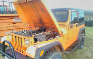 """1994 Jeep yj diesel w 3"""" frame lift and 2"""" cab lift, 33's 6000$"""