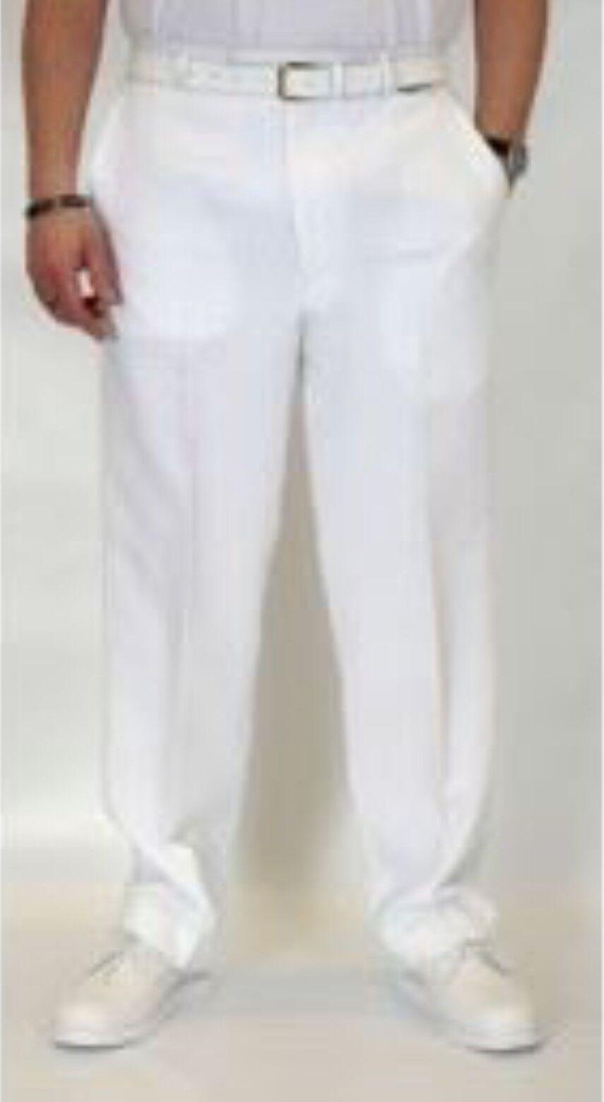 BNWT Emsmorn White Bowls Trousers for Men