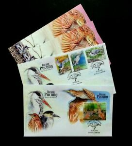 SJ-Malaysia-Herons-amp-Bitterns-2015-Migratory-Birds-Wildlife-Animal-FDC-Pair