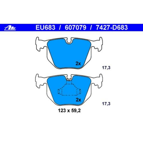 For BMW E46 3-Series M3 E38 7-Series E39 M5 Rear Disc Brake Pad Set ATE 607079