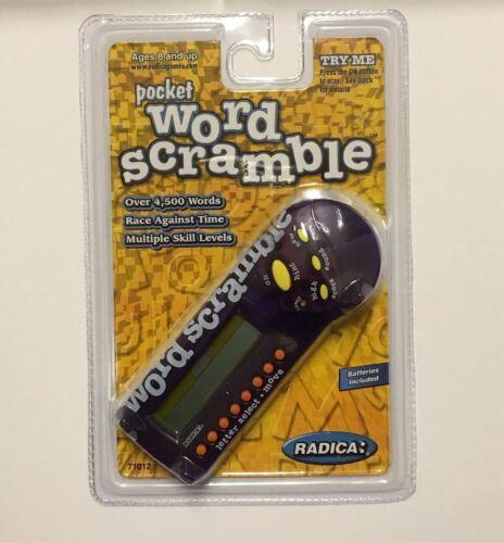 Radica Pocket Electronic Word Scramble New Sealed