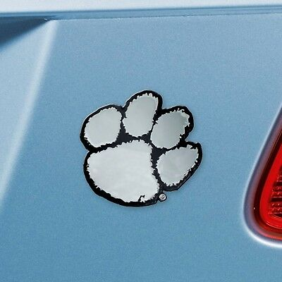 Clemson Tigers Solid Metal Chrome Auto Emblem