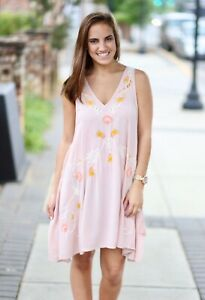 1f02e5802999a NWT Free People Adelaide Festival Slip Dress In Blush Combo Size S ...