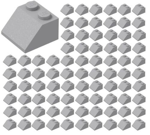 ☀️LEGO 100x LIGHT BLUISH GRAY 2x2 45° Slope BULK Parts City Building Starwars