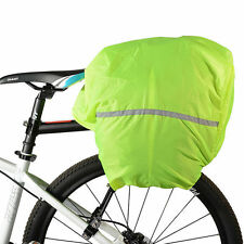 Green Reflective Waterproof Cover Bicycle Bike Rack Pack Bag Dust Rain Cover KI