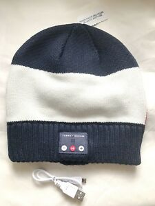 344de5d1ea60 Image is loading TOMMY-HILFIGER-BLUETOOTH-HEADPHONE-KNIT-BEANIE-HAT-FOR-