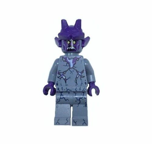 Lego Nexo Knights Stone Stomper Minifigure Dark Purple Cracks from set 70357 NEW