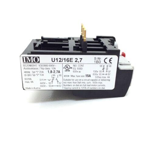 Surcharge relais OL04C imo 1.8-2.7A U12//16E2.7