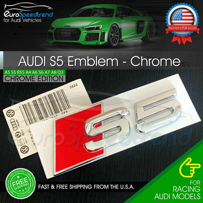OE AUDI GENUINE A5 S5 08-16 CHROME S5 REAR TRUNK BADGE EMBLEM 8T08537352ZZ