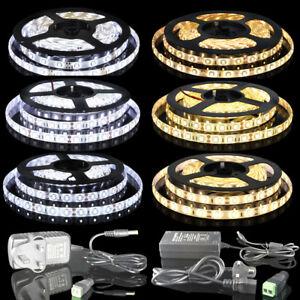 3528-5050-5630-5M-White-Warm-White-300-LED-12V-Flexible-Strip-Light-IP65-amp-IP20