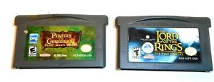 NINTENDO GAME BOY ADVANCED PIRATES OF THE CARRIBEAN/LORD OF THE RINGS 2 TOWERS
