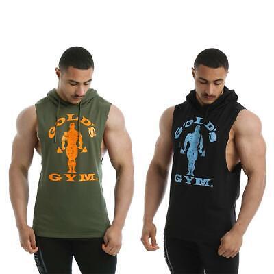 Sweatshirt GGSWT143 Men/'s Drop Armhole Sweat Green Gold/'s Gym Hoodie