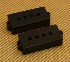PC-0951-023 (2) Black Bass Pickup Covers For Fender P Precision Bass