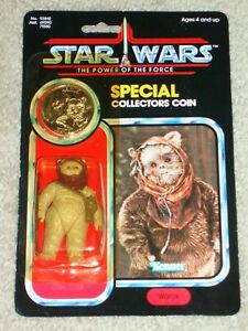 Vintage Star Wars 1985 Kenner Warok Ewok Potf 92 Carte Dos Moc Afa It!