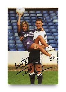 Teddy-Sheringham-Hand-Signed-6x4-Photo-Tottenham-Hotspur-England-Autograph-COA