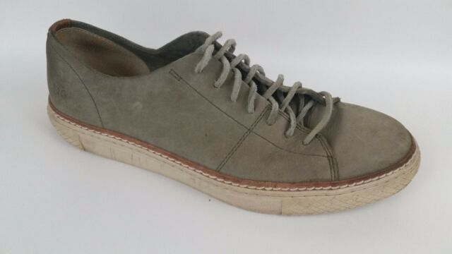 Frye Gates Low Lace Mens 10 Med Gray Stone Leather Lace Up