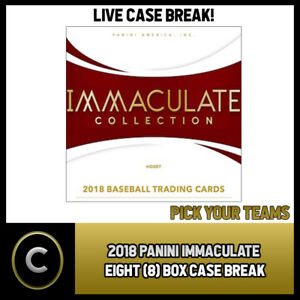 2018-PANINI-IMMACULATE-BASEBALL-8-BOX-FULL-CASE-BREAK-A177-PICK-YOUR-TEAM