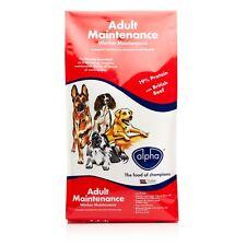 2 x 15kg (30kg) ALFA feed lavoratore di manutenzione di Manzo Completa cibo per cani