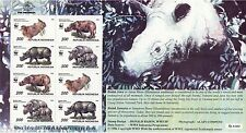 Animali: Indonesia / WWF 1996 sumatran rhinocerous SHEETLET sg2267-70 MNH