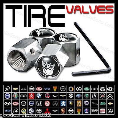 Transformers Decepticons Wheel Tyre Tire Valve Air Dust Cover Caps Refit For VW