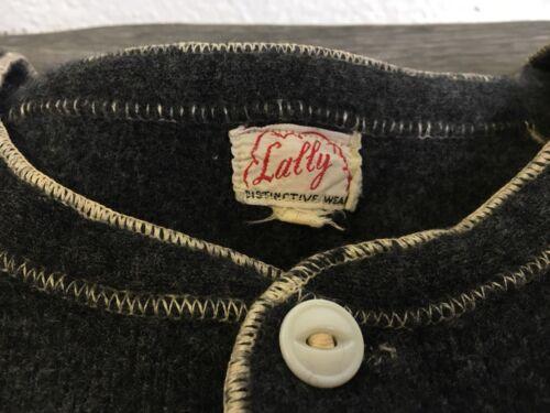 Vtg Union Suit RARE 30s 40s Lally Wool Work Wear L