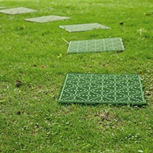 10pc Green Plastic Garden Tiles Outdoor Decking Interlocking Instant Path Decor