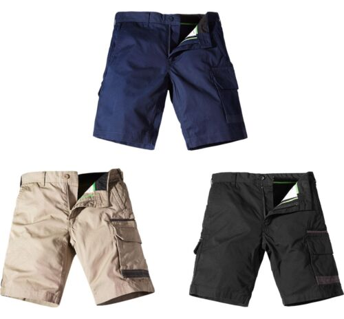 khaki or navy blue multiple utility pocket work shorts FXD WS1 black