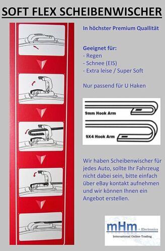 Set 2 x SPEED FLEX Scheibenwischer vorne für Opel Signum