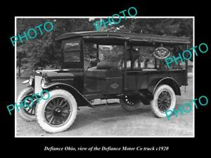 OLD-LARGE-HISTORIC-PHOTO-OF-DEFIANCE-OHIO-THE-DEFIANCE-MOTOR-Co-TRUCK-c1920