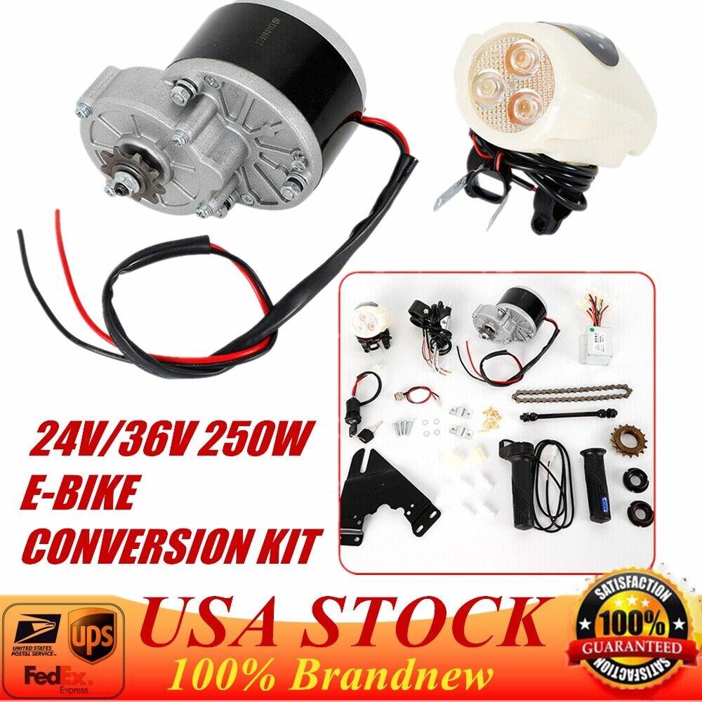 Electric Bike Conversion Kit Fit for 22-29 inch Bike Motor 24V 36V 250W US New