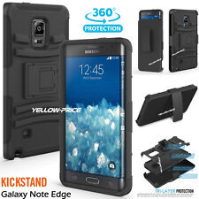 SLIM SOFT SILICON CASE with BELT CLIP HOLSTER STAND for Samsung Galaxy NOTE edge