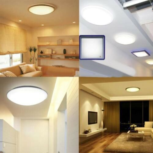 Circle Shaped LED Ceiling Light Round Panel Lamp Plate Bathroom Kitchen Bedroom