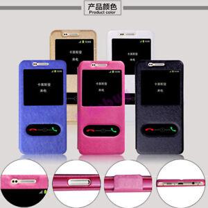 Pour-Samsung-S5-S6-S7-Bord-S8-S9-Plus-de-Luxe-Fin-Clapet-Cuir-Windows-Etui-Coque