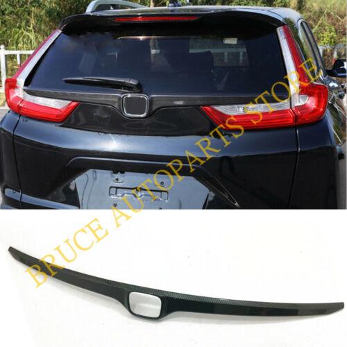 Carbon Fiber Look Rear Door Trunk Cover Strip Trim For Honda CRV 2017 2018 2019