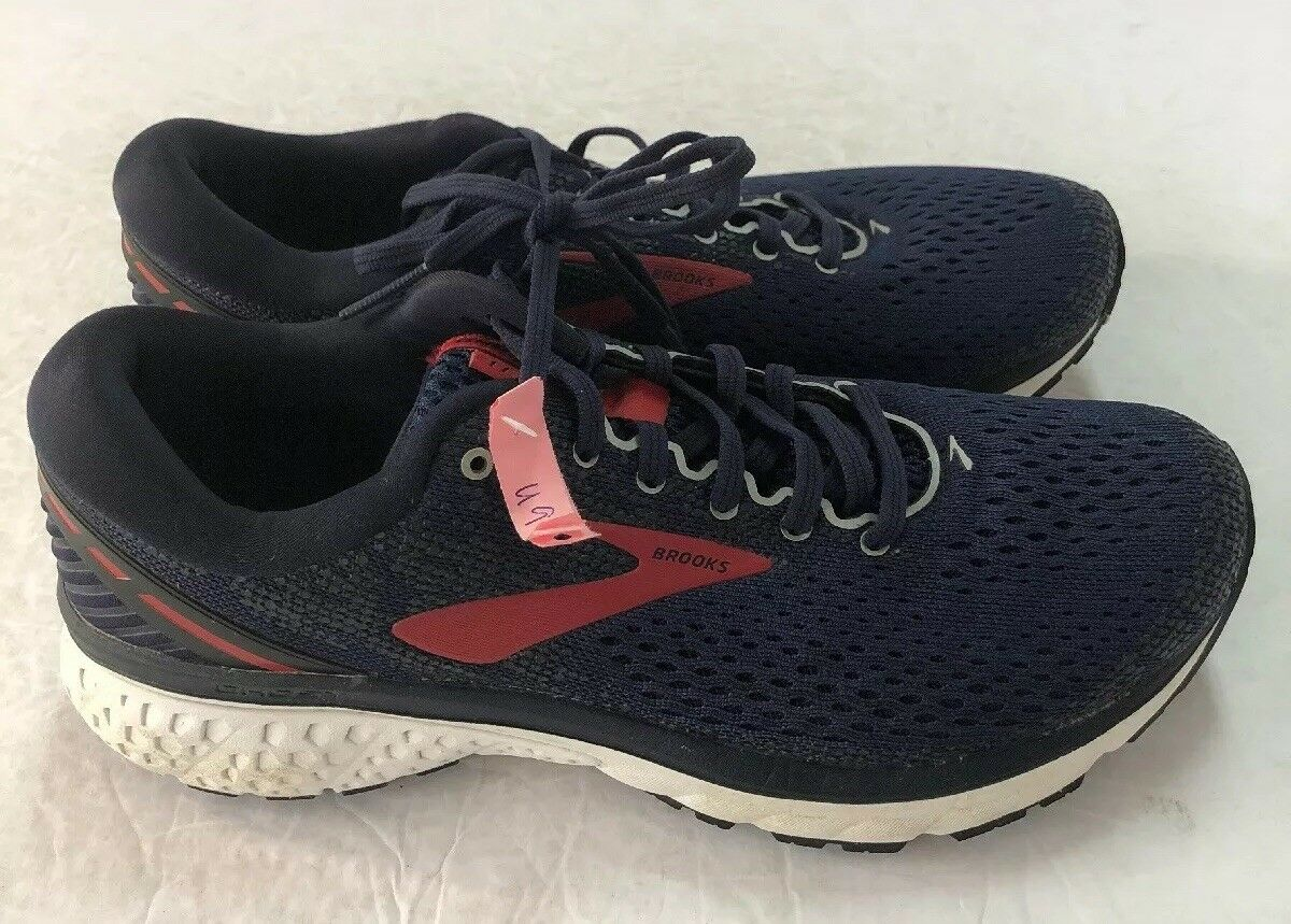 Brooks Mujer Running zapatos Ghost 11-US tamaño 9-Azul Marino Rojo