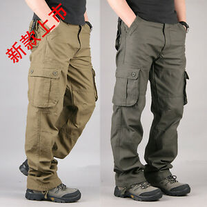 classic chic outlet on sale on feet shots of Details about OUTDOOR HIKING CAMPING MEN PANTS CARGO OVERALLS PANTS  MILITARY TROUSERS OVERSIZE
