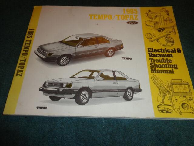 1985 Ford Tempo    Mercury Topaz Wiring  U0026 Vacuum Diagram Shop Manual    Orig