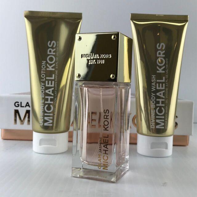95a277ffb368 Michael Kors Glam Jasmine Eau De Parfum Body Wash and Lotion 3-piece Gift  Set