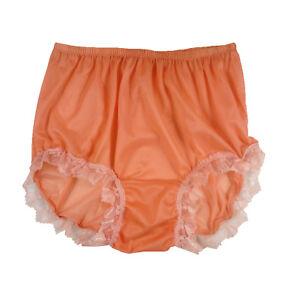 Panties Loyal Sexy Vintage Panties Silky Nylon Sheer Bikini Full Briefs Granny Knickers Sizell
