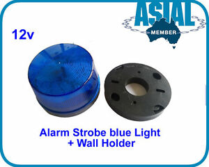 12v alarm led blue flashing strobe blue light for home. Black Bedroom Furniture Sets. Home Design Ideas