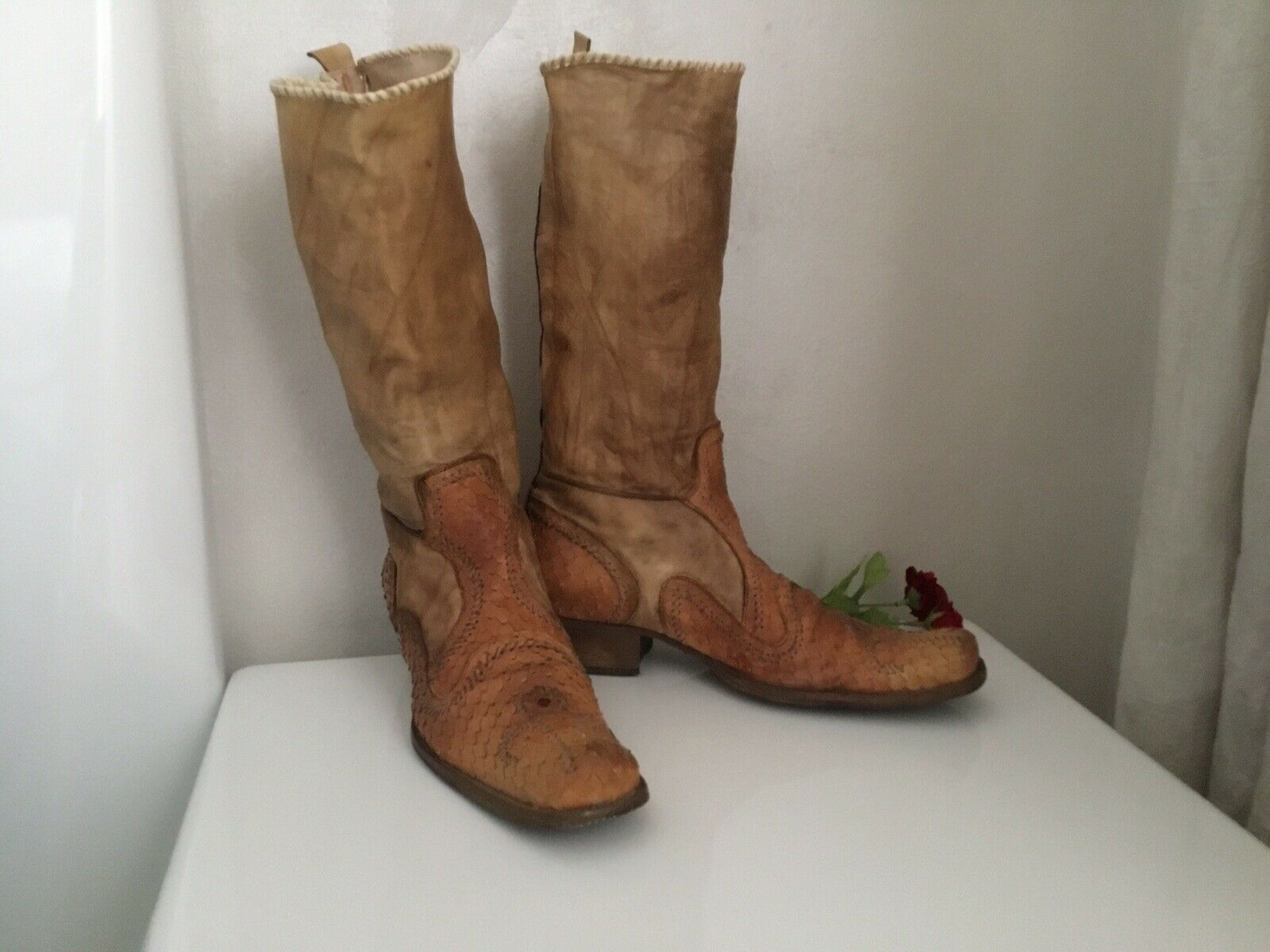 outlet online  Ladies Ladies Ladies Real Cobra Leather Winter Cowboy stivali Hand Made 38 UE  connotazione di lusso low-key