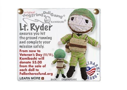 Kamibashi LT Ryder Armée GI l/'original String Poupée Gang Keychain Clip