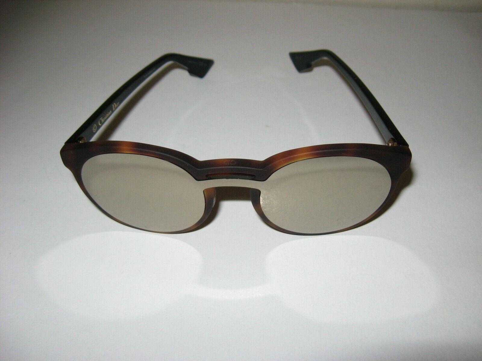 Dior Onde1 Brown Tortoiseshell Mirrored Sunglasses