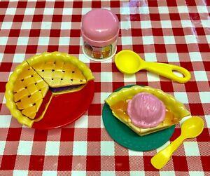 Vtg Fisher Price Play Food Pie Ice Cream Set Fun For Tikes Kitchen Baking Fpc181 Ebay