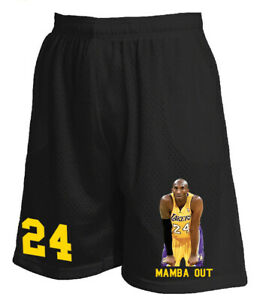 Details about New Men's Mesh Short Jersey Kobe Bryant Mamba out Legend Basketball Pants S~5XL